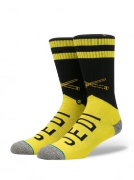 Star Wars Varsity Jedi Socks Yellow.