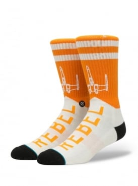 Star Wars Varsity Rebel Socks Orange.
