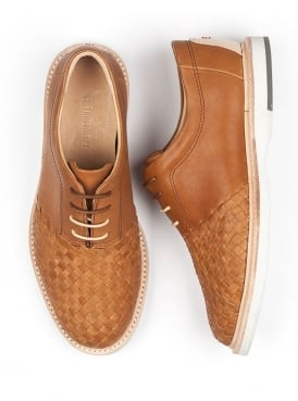 Ross Brown Leather Lace Up Oxford Shoe