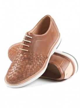 Ross Light Brown Leather Lace Up Oxford Shoe