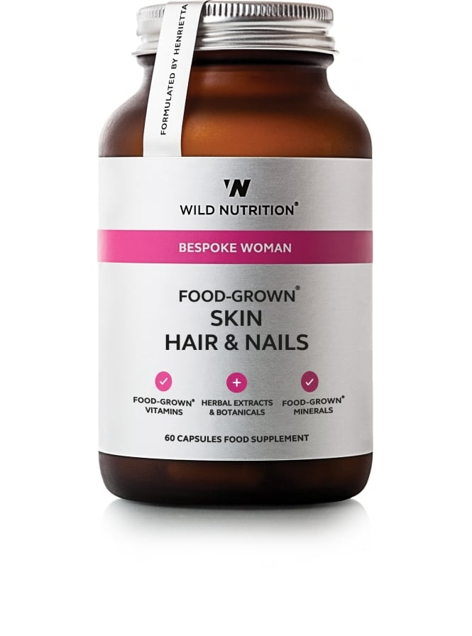 Wild Nutrition Supplements Bespoke Woman Food Grown Skin Hair & Nails 60 Capsules