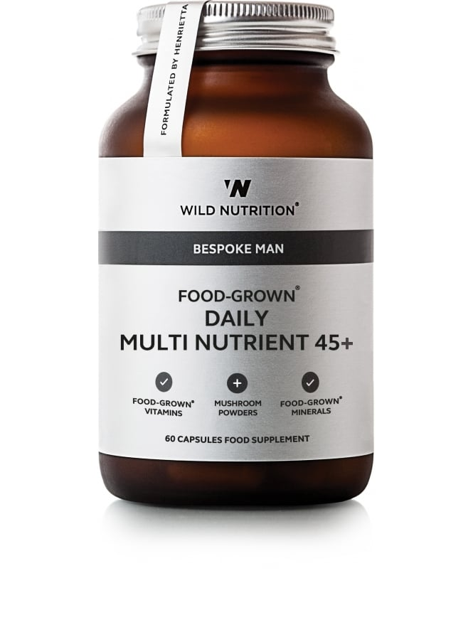 Wild Nutrition Supplements Food Grown Daily Multi Nutrient for Men 45+ 60 Capsules