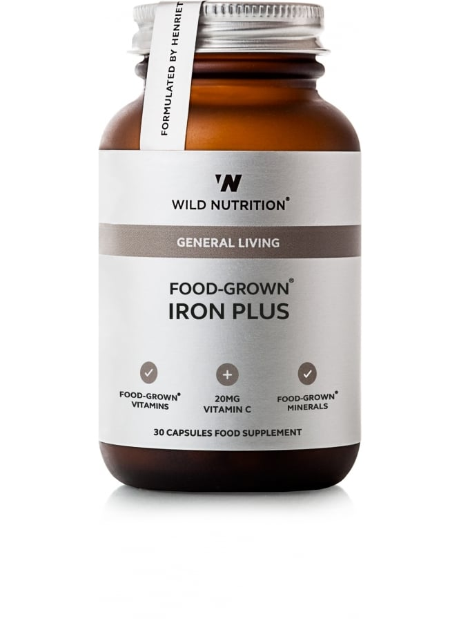 Wild Nutrition Supplements General Living Food-Grown Iron Plus 30 Capsules