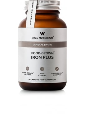 General Living Food-Grown Iron Plus 30 Capsules