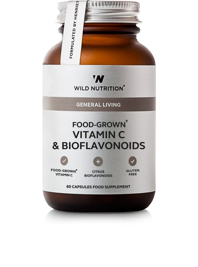 Wild Nutrition Supplements General Living Food-Grown Vitamin C & Bioflavanoids 60 Capsules